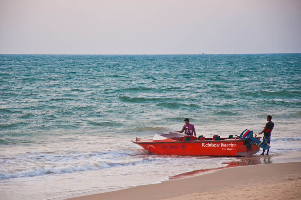 Fishing boat at Candolim beach