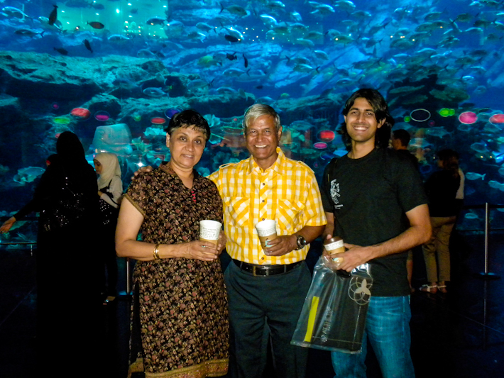 In Dubai, when I first met Ashray's parents