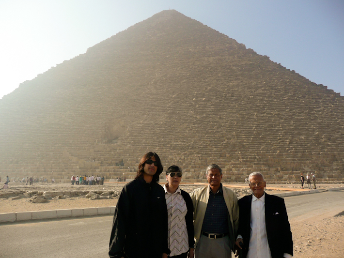 In Egypt: at his 92 years of age, this was Grandpa's first ever trip abroad!