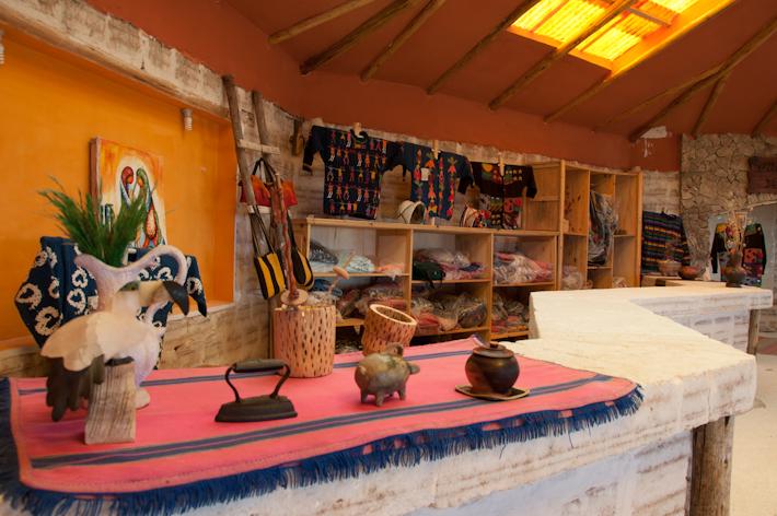 Souvenir shop inside Luna Salada