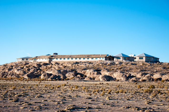 Sitting on top of a small hill, Luna Salada offers a great view over the salt flats