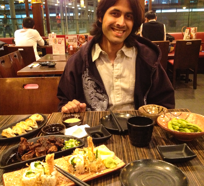 Feasting on sushi and other Japanese delicacies