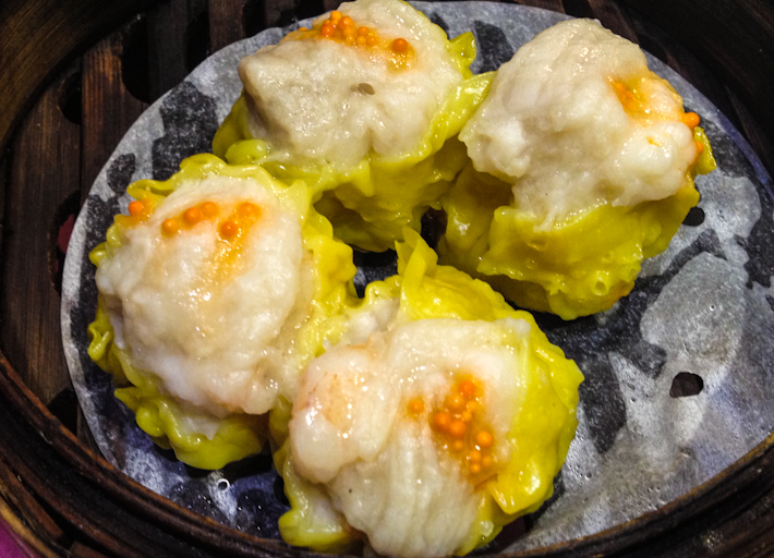 燒賣 Siumai: a classic dumpling of minced pork and prawn