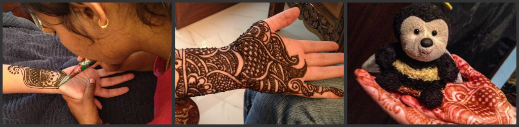 Henna application process