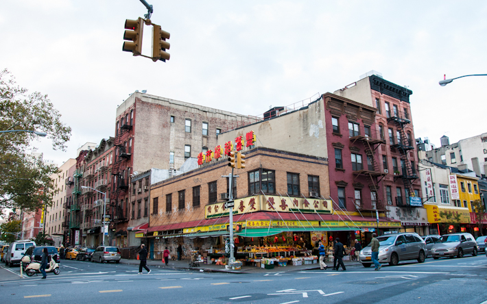 Intersection in Chinatown, NYC