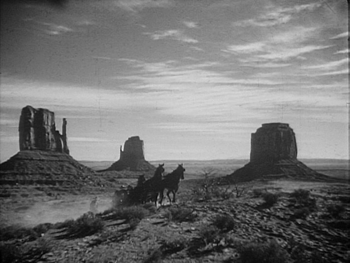 "A scene of John Ford's western ""Stagecoach"""