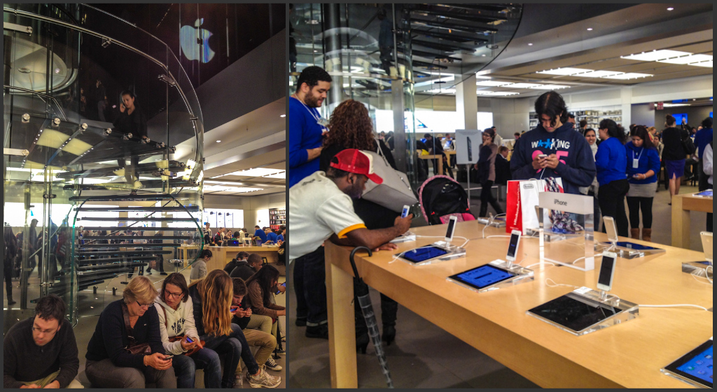 Madness at the Apple store on 5th Avenue!