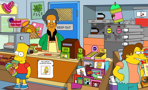 Apu at the Kwik-E-Mart (from The Simpsons)