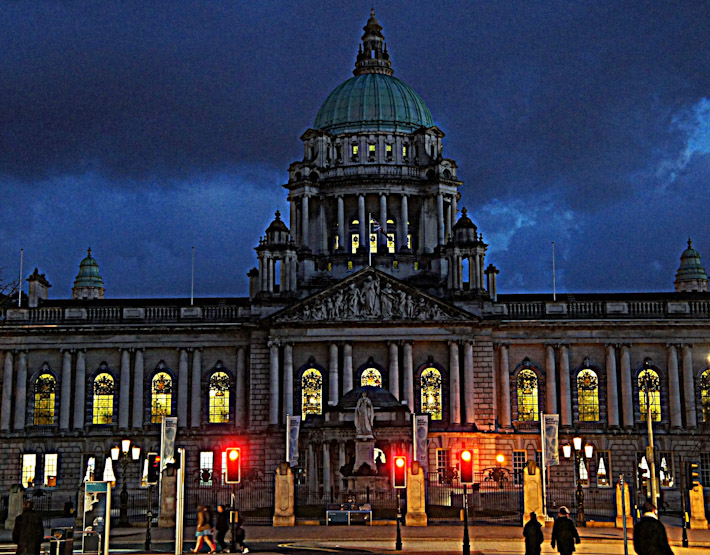 Glow-in-the-dark grandeur in Belfast