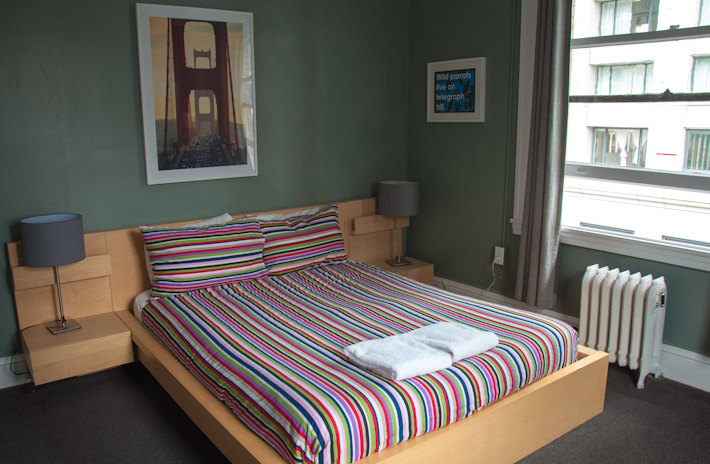 Hi Hostel Downtown SF: room for 2!