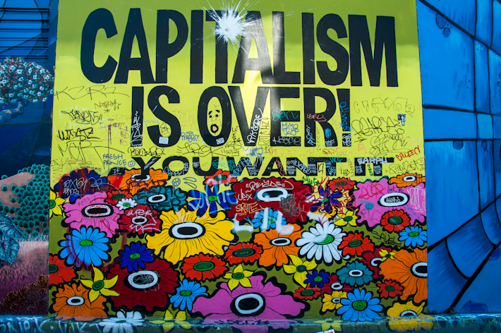 Anti-capitalist mural