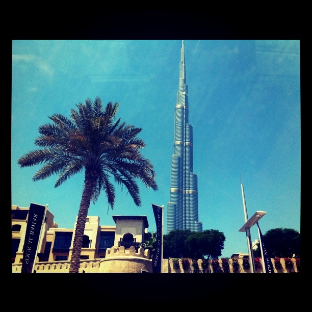 View of the Burj Khalifa in Dubai