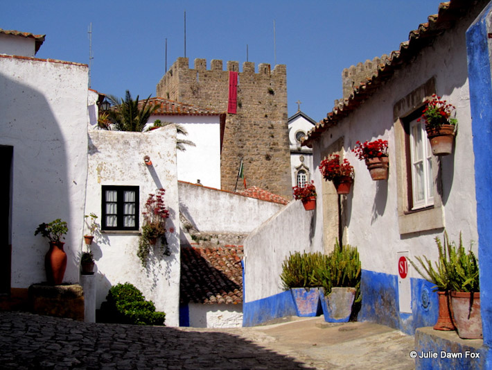 Medieval houses and castle, Óbidos, Portugal