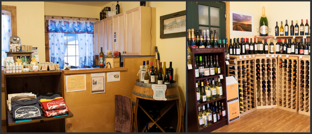 Selected wines and other goodies at the Abineau gift shop