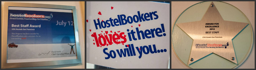 "HostelBookers has given USA Hostels San Francisco ""Best Staff Award"""