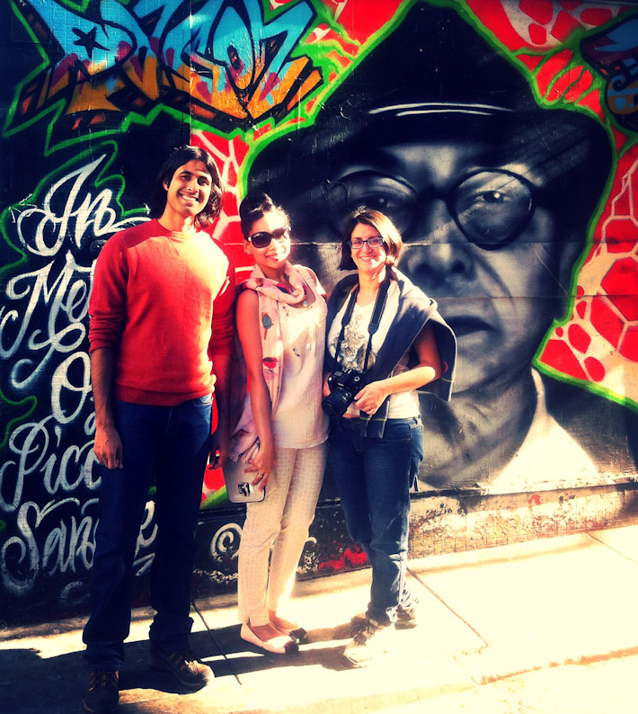 With Rukmini in Clarion Alley