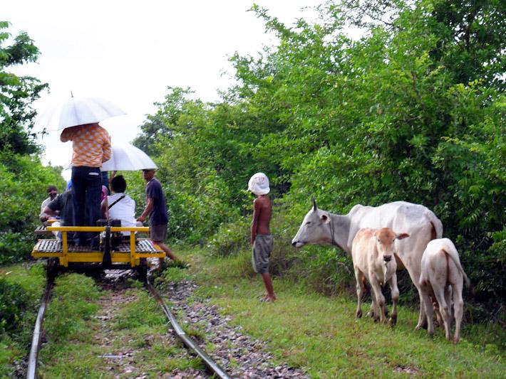 Bamboo Train in Cambodia