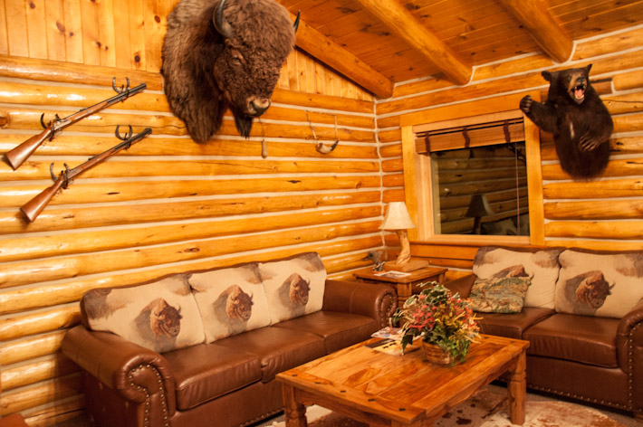This is what a cowboy's living room looks like!