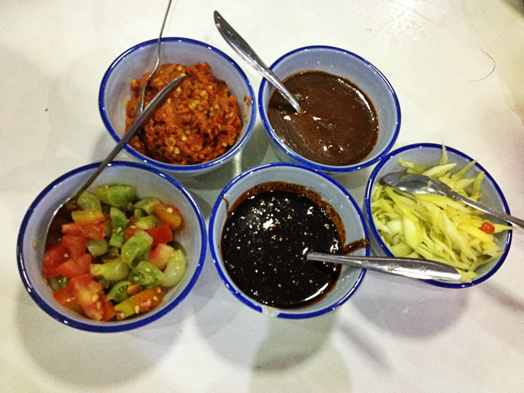 Different types of sambal