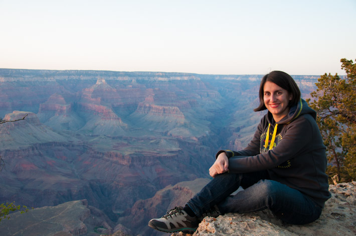 Enjoy the sunset at the Grand Canyon