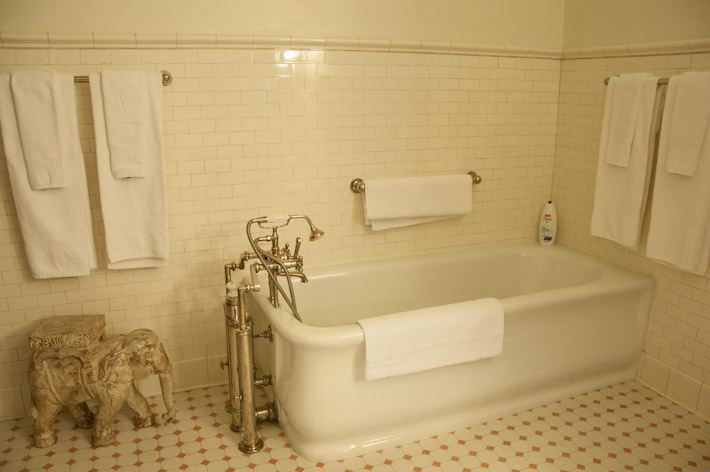 Bath tube inside master suite's bathroom