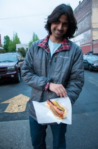Chicago style hot dog from a food truck in Portland. Portland and Seattle were our favorite cities food wise.