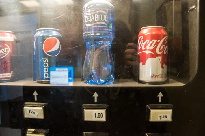 Water is more expensive than soft drinks.