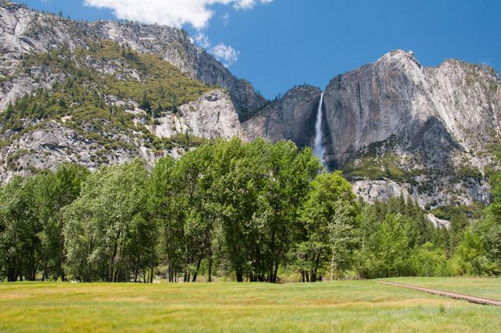 Yosemite Falls (highest waterfall in North America) in Yosemite National Park