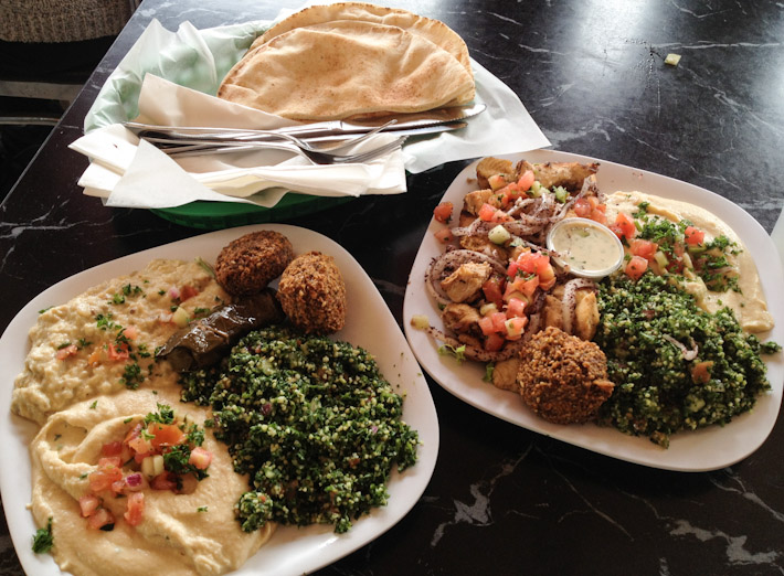 Middle-Eastern lunch in San San Francisco. About $15 for 2.