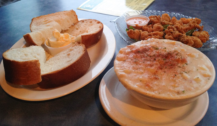 Clam chowder: common in coastal regions