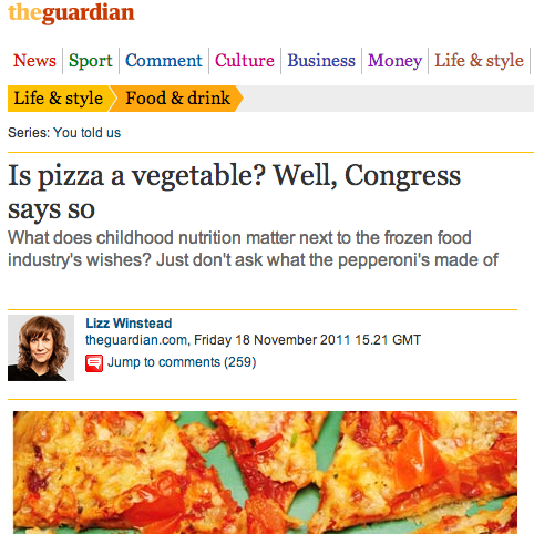 News when Congress said pizza is a vegetable. Read on: http://bit.ly/18Masy5