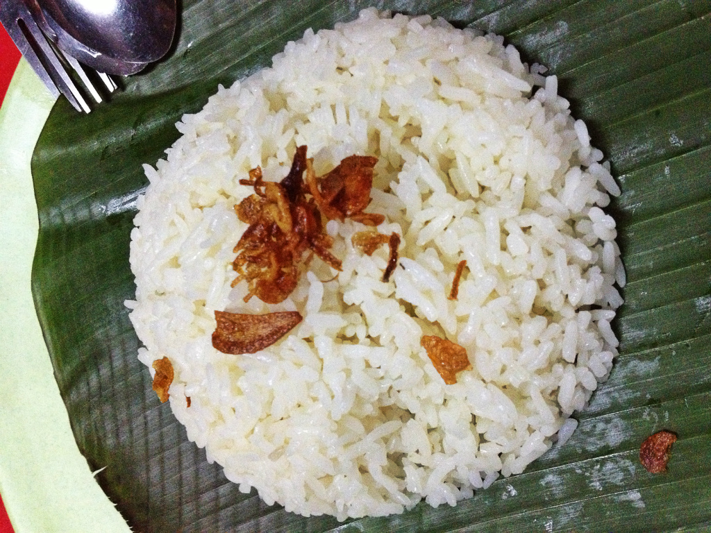 Nasi uduk (coconut rice)