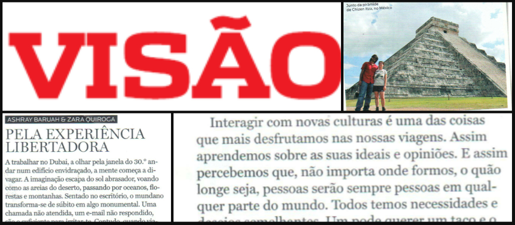 Backpack ME in Visao Viagens Magazine (Portugal)