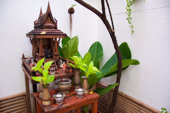 Shrine in the guesthouse's garden