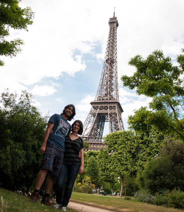 A&Z by the Eiffel Tower