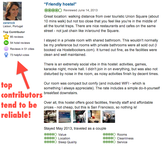 Look for Top Contributor's reviews on Tripadvisor!