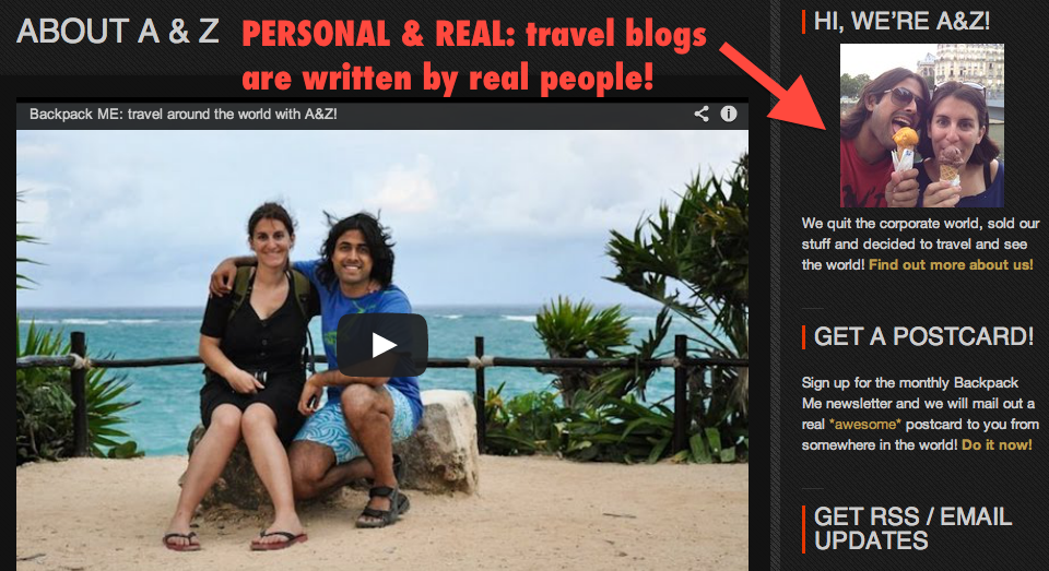 Travel blogs: a fun, personal and inspirational approach to travel