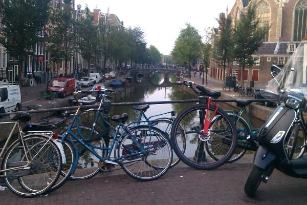 By the canals of Amsterdam